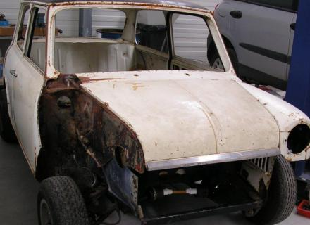 restauration mini carrosserie Perot
